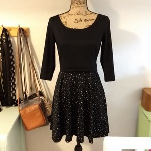 NWOT Lauren Conrad Black Size 6 Long Sleeve Dress